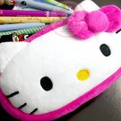 Sanrio Hello Kitty Fluffy Square Pencil Case Bag Doll Pouch