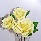 PREORDER - Single Light Yellow Full Bloom Rose
