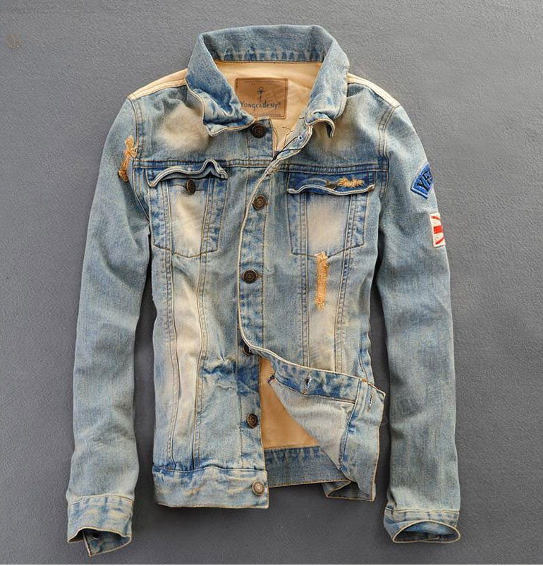 men denim jacket online shopping trendy clothes jean jacket mens Cowboy Coat
