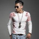 HIGH QUALITY comfortably  Men cool T shirt High design cool tee shirt tee shirts Long Sleeve