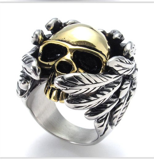 titanium rings for men SKULL rings fashion jewelry COOL