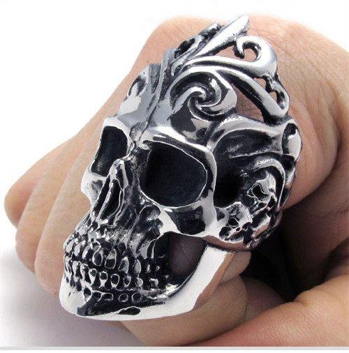 Men skull cool Finger Rings PUNK style  titanium rings for men SKULL rings fashion jewelry COOL