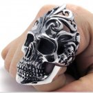 Men skull cool Finger Rings PUNK style  titanium rings for men SKULL rings fashion jewelry COOL