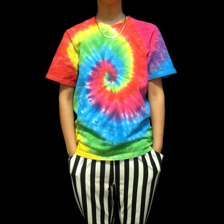 professional Handmade unique Men tie dye shirts Gifts for him tie dyeing  tie dye designs