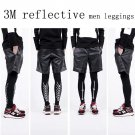 fashion mens sports leggings 3M reflective jogger pants  hiphop Inner wear