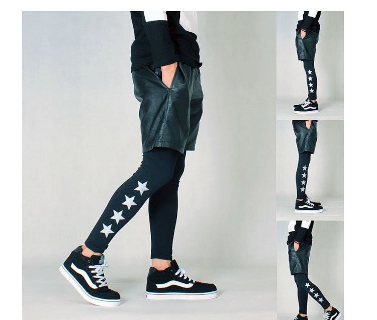 3M reflective fashion mens sports leggings hiphop mens tights and leggings  jogger pants