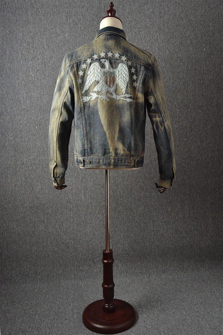 men denim jacket online shopping trendy clothes jean jacket mens Cowboy Coat