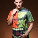 The Men 3D print Incredible Hulk Green Costume T-Shirts  cool tshirt New Personalized t shirts