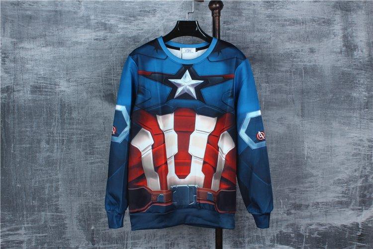 Men cool sweatshirt Long-sleeved  crew neck pullover  sport cotton