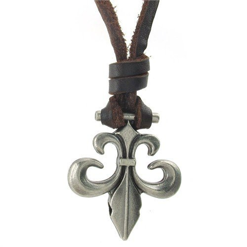 men Genuine Leather Adjustable chain necklaces chrome hearts Pendant best gifts