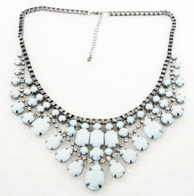 fashion jewelry charm chain bib necklaces   for women holiday gifts