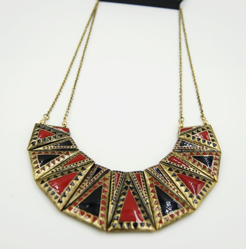 Texture exaggerated retro necklace C21-754 gifts for her Texture exaggerated retro