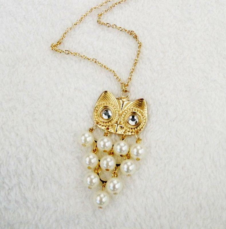 owl pendants long necklaces for women gift idea C21-380