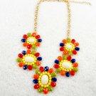 chunk bib colorful flower pendants  necklaces for women wholesale price kC8-231