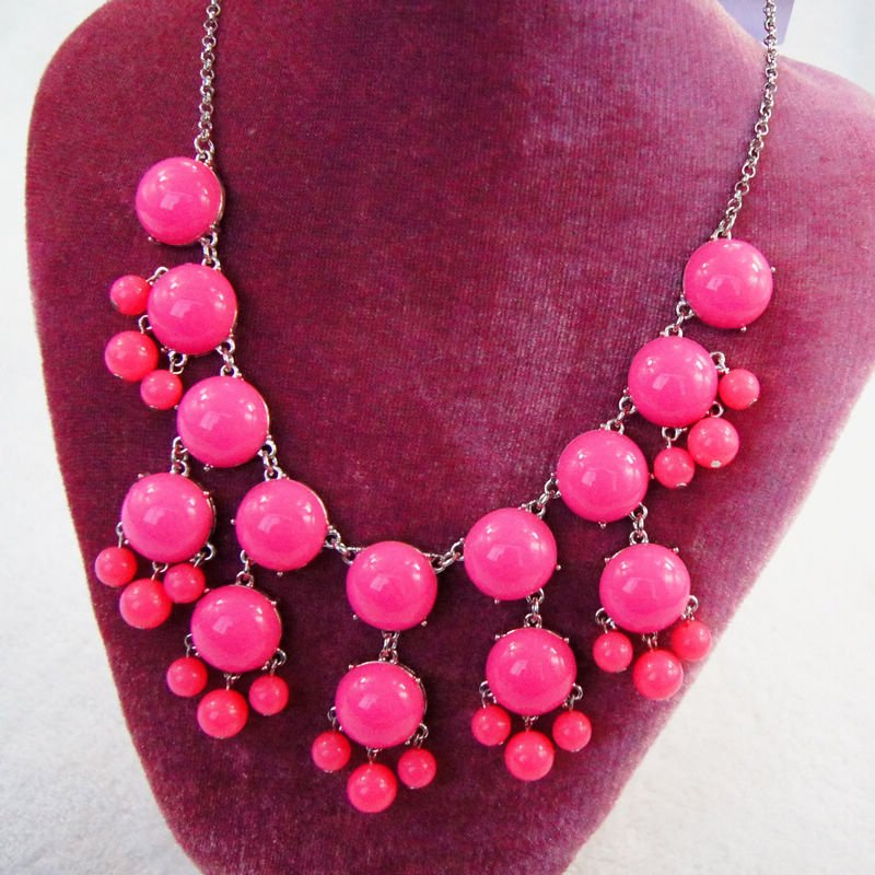 fashion jewelry pink necklaces for women gifts cheap price kC9-625