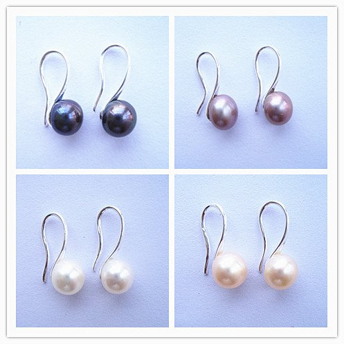 100% natural Pearl drop Earrings  sterling silver Ear hook for women