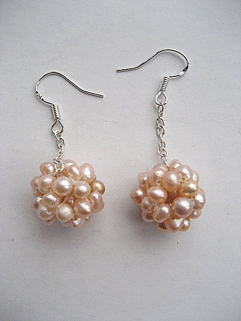 100% natural Pearl drop Earrings sterling silver Ear hook for women gifts wholesale and retail