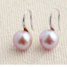 100% natural pearl hoop earrings 925 sterling silver for women