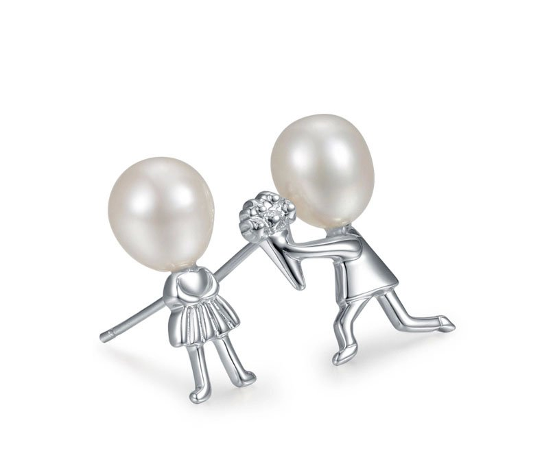 925 sterling silver lover pearl studs earring for women girl friend gifts