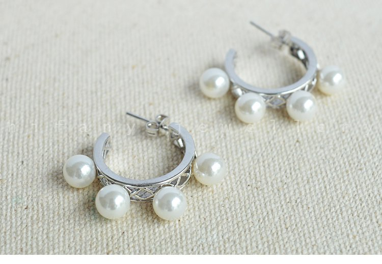 100% natural pearl hoop errings 925 sterling silver for women gifts idea
