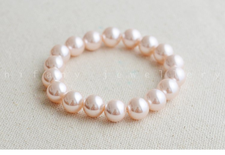 fashion jewelry 10-10mm Pearl Stretch Bracelet for women gifts