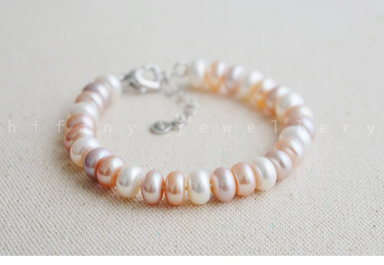 AAA+ fashion jewelry 8-9mm Freshwater charm Bracelet for women gifts