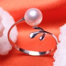 AAA+ fashion jewelry 6-7mm Freshwater pearl rings with 925 silver for women