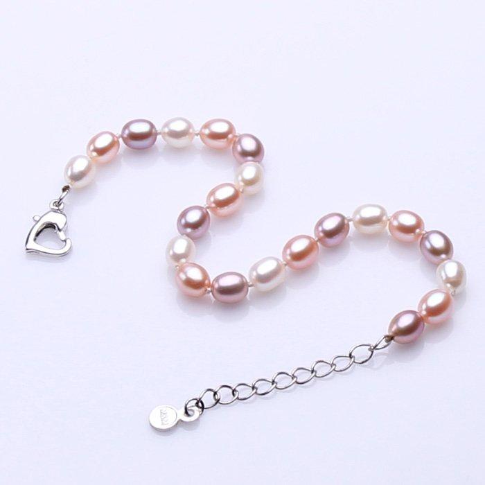 fashion jewelry 6-7mm Freshwater charm cuff Bracelet for women gifts