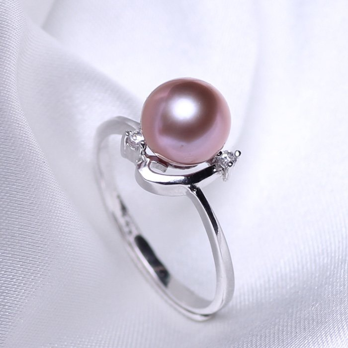 Fashion jewelry 8-9mm Freshwater pearl ring with 925 sterling silver for women