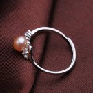 fashion jewelry 5-6mm Freshwater pearl rings  for women