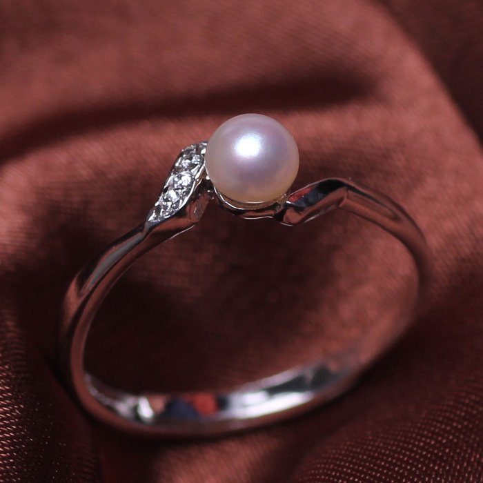 fashion jewelry 4-5mm Freshwater pearl rings for women