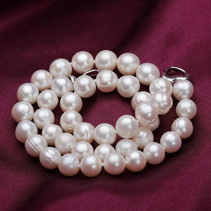 10-11MM real Pearl necklaces for women 50cm Great gifts