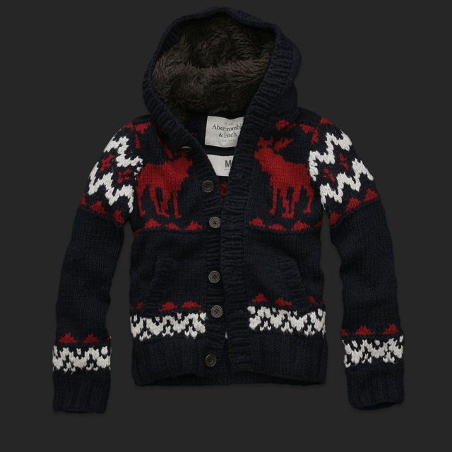 Mens christmas Hooded sweater cardigans Great gift idea