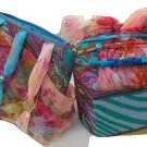 Scarf Covered Trinket Jewelry Box and Cosmetic Bag Set
