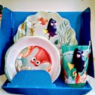 Disney Pixar Finding Dory 3 Piece Mealtime Set Plate Bowl Cup
