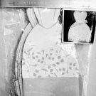 Wedding Dress Shaped Favor Boxes Silver Grey Princess Style Floral Print