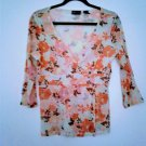 Floral Semi Sheer Nylon Womens Crisscross Bodice New York % Co Size Small
