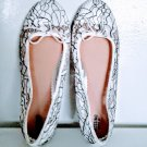 Mossimo Supply Co White & Black Lacy Ballerina Style Womens Flat Shoes Size 11