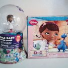 Doc McStuffins Bubble Bath Gliiter Globe and 24 Piece Puzzle Bundle Toys Doctor