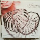 Crystal Heart Shaped Glass Two Piece Box D Amore Studio Silversmiths