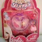 Barbie Surprise Inside Squinkies Bracelet & Charms Set ,including 4 Squinkies