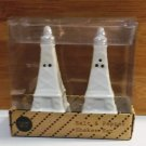 White Paris Eiffel Tower Ceramic Salt and Pepper Shakers