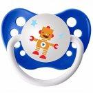 Robot Pacifier - 6+ months - Robot Binky - NUK Pacifier - Robot Baby Accessory - Robot Baby Shower