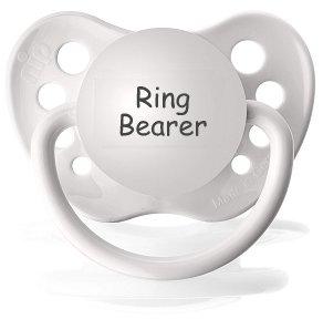 Ring Bearer Pacifier - Wedding Paci - NUK Pacifier 0-6 months - Wedding Binkie - Ring Bearer Binky