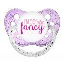 I'm So Fancy Binky - Ulubulu - 6+ months - Girls - Little Girl Soother - Glitter Pacifier