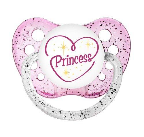 Princess Pacifier - Ulubulu - Girls - 0-6 months - Glitter Binky - Baby Girl Dummy