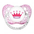 Princess Crown Pacifier - Ulubulu Binky - 0-6 months - Tiara Soother - Glitter Pink Dummy