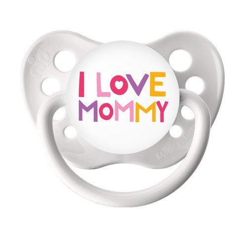 I love Mommy Pacifier - Ulubulu Binky -  0-6 months - White Baby Dummy - Baby Girl Paci