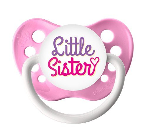 Little Sister Pacifier - Ulubulu - Girls - Pink - 0-6 months - Little Sister Binky