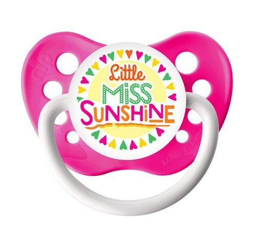 Little Miss Sunshine Pacifier - Ulubulu - Girls - Neon Pink - 6+ months Binky